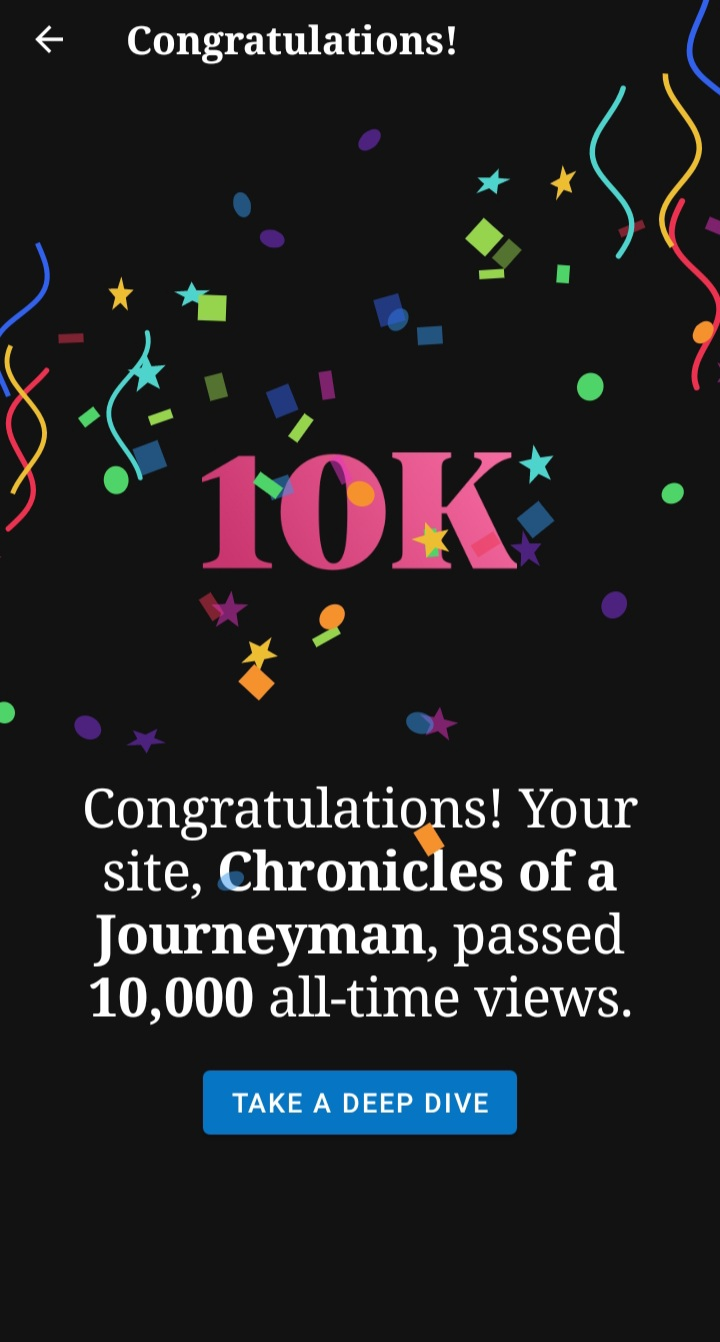 Cheers to 100, and to10000!